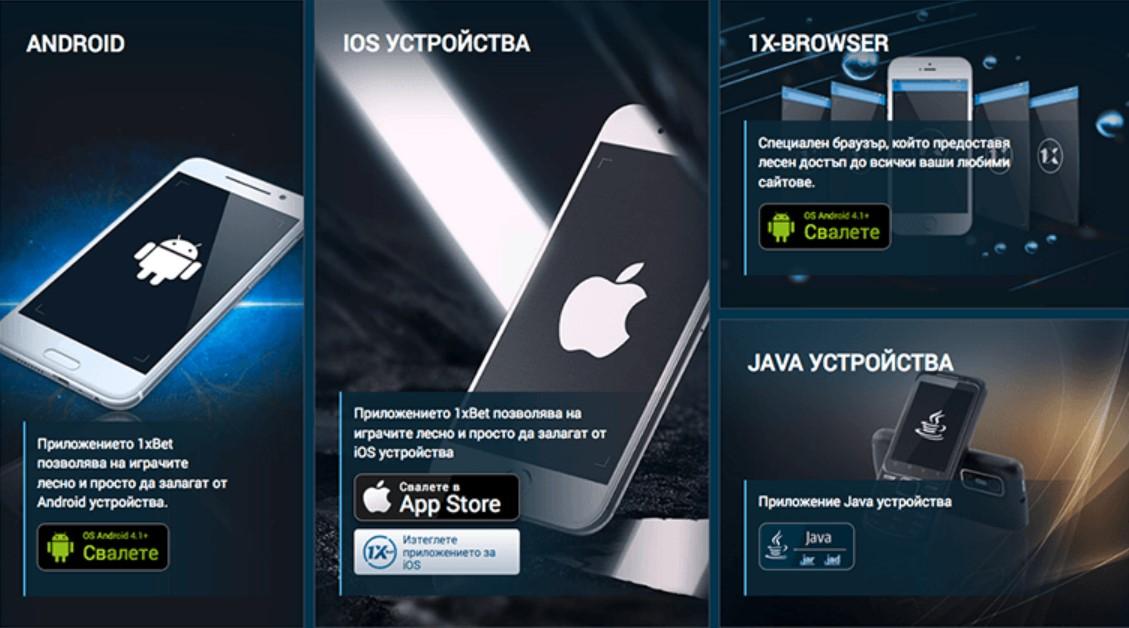 Някои системни изисквания за сваляне на мобилното 1xBet приложение